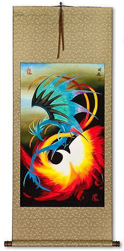 Dragon and Phoenix Chinese WallScroll
