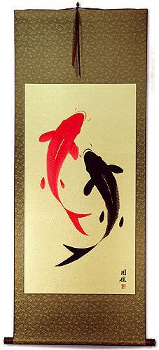 Yin Yang Fish - Huge-Size Wall Scroll