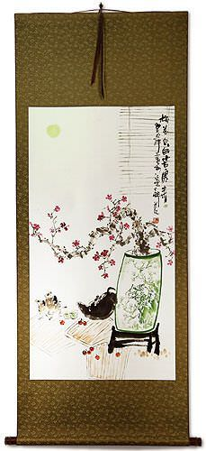Large Plum Blossom Wall Scroll