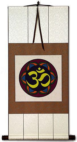 Om Symbol - Hindu / Buddhist Wall Scroll