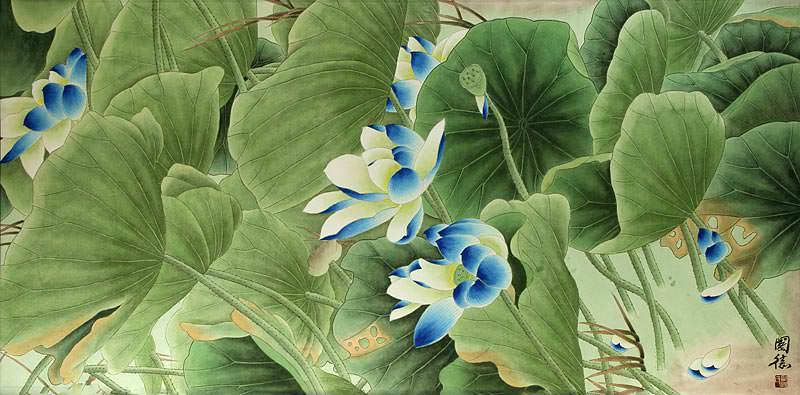 "See how ""Lotus Dreams - Beautiful Flowers Painting"" would look after being professionally framed"