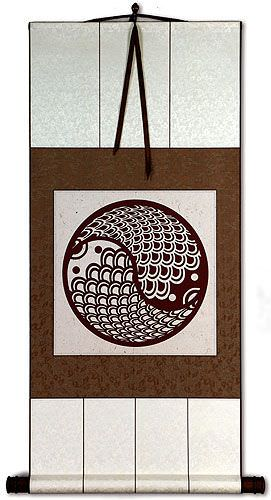 Yin Yang Fish Print<br>Chinese Wall Scroll