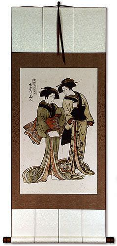 Japanese Woodblock Print Reproduction Wall Scroll