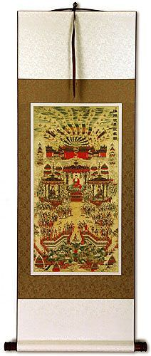Buddhist Paradise Alter Print - Wall Scroll