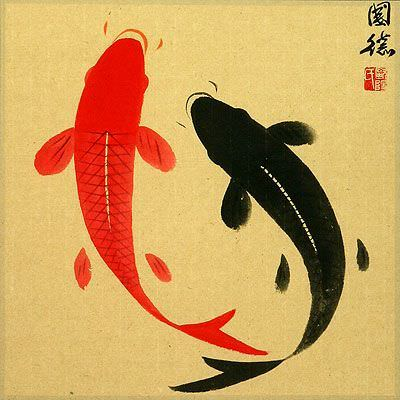 "See how ""Classic Yin Yang Fish Painting"" would look after being professionally framed"