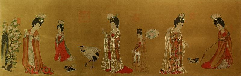 Tang Dynasty Ladies - Partial Print Painting