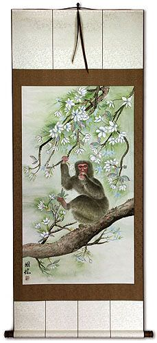 Monkey Wall Scroll