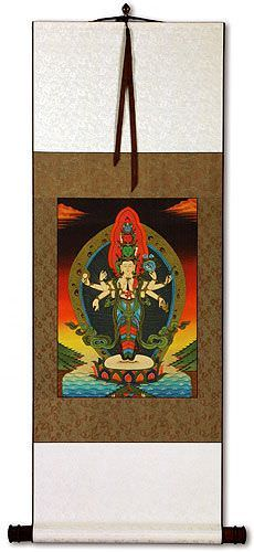 Buddha Alter Print - Wall Scroll