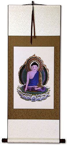 Buddhist Deity Print<br>Buddha Repro<br>Wall Scroll