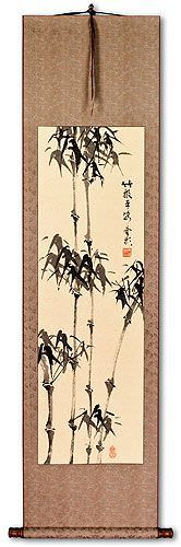Peaceful Chinese Bamboo Wall Scroll Chinese Bamboo