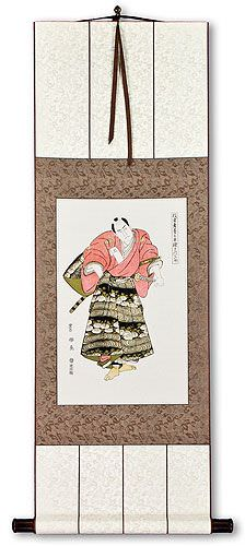 Ronin Samurai Warrior<br>Japanese Woodblock Print Repro<br>Wall Scroll