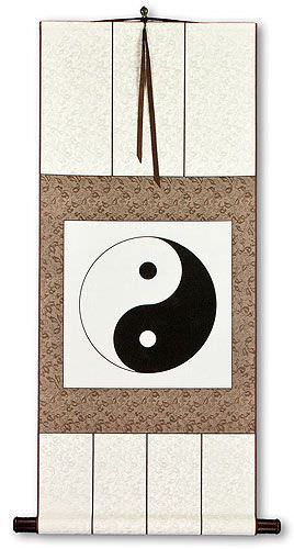 Yin Yang Symbol Symbol<br>Chinese Philosophy Wall Scroll