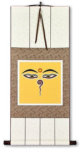 Eyes of Buddha Print - Wall Scroll