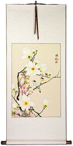 Birds & Flowers Wall Scroll