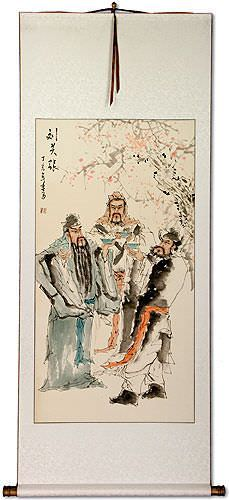 Three Warrior Brothers of China Wall Scroll