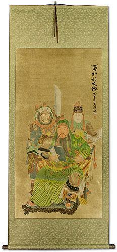 Three Brothers<br>Partial-Print Wall Scroll