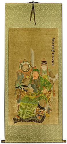 Three Brothers<br>Partial-Print Hanging Scroll