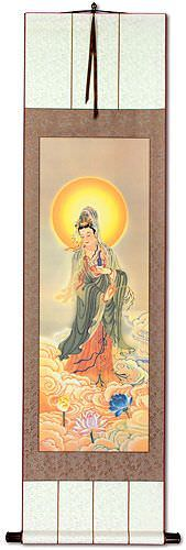 Guanyin Buddha Holds the Jing Ping<br>Giclee Print<br>Wall Scroll