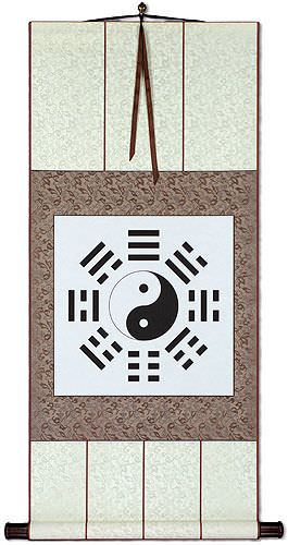 Ba Gua / Yin Yang Symbol Symbol<br>Chinese Wall Scroll