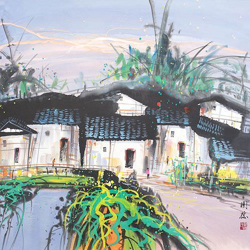 Suzhou in the Spring<br>Chinese Venice Landscape Painting
