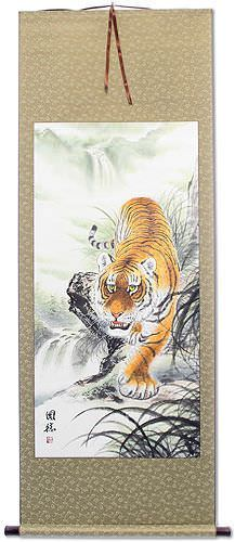 Chinese Tiger Wall Scroll