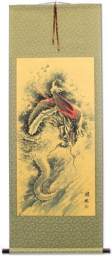 Flying Chinese Dragon<br>Asian WallScroll