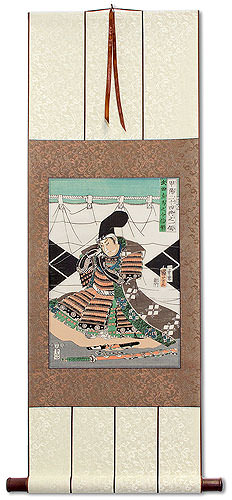 Takeda Nobushige Samurai <br>Japanese Woodblock Print Repro<br>Wall Scroll