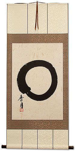 Enso Japanese Symbol<br>Large Silk Wall Scroll