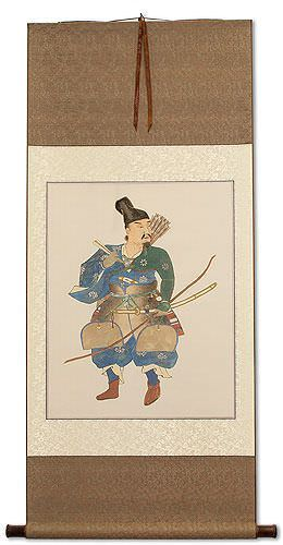 Japanese Samurai Archer Warrior<br>Large Wall Scroll