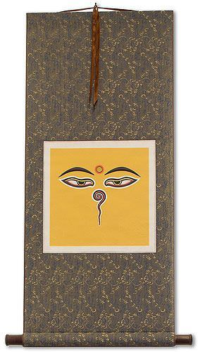 Eyes of Buddha - Print Wall Scroll