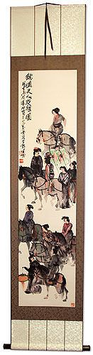 Riders on Horseback<br>Horses Wall Scroll