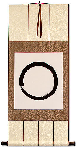 Enso<br>Buddhist Circle Calligraphy<br>Wall Scroll