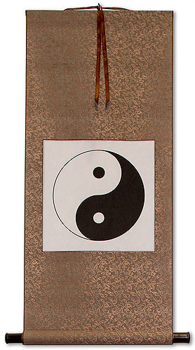 Yin Yang Symbol<br>Wall Scroll