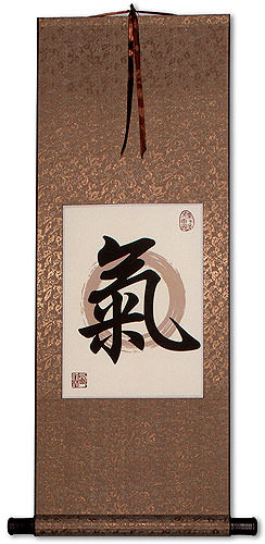 Spiritual Energy in Chinese and Japanese Kanji - Print Scroll