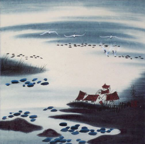 Memories of South China<br>Asian Watercolor Painting