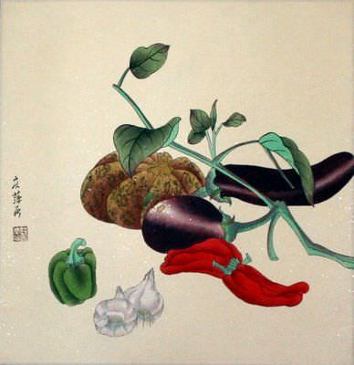 "See how ""Vegetable Art Painting"" would look after being professionally framed"