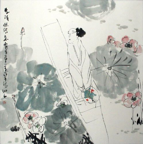 "See how ""Poetic Feeling - Chinese Poetry Painting"" would look after being professionally framed"