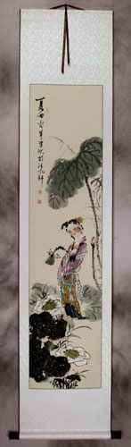 Young Chinese Girl - Song of Summer - Wall Scroll