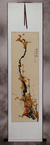 Chinese Plum Blossom Wall Scroll