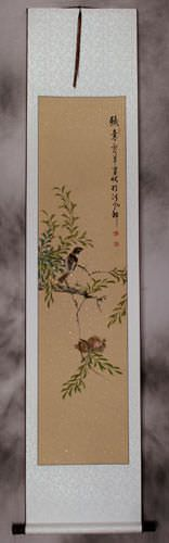 Birds on a Branch<br>Wall Scroll