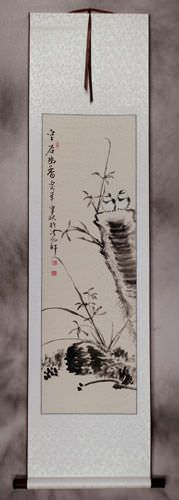 Fragrance From The Valley<br>Chinese Birds Wall Scroll