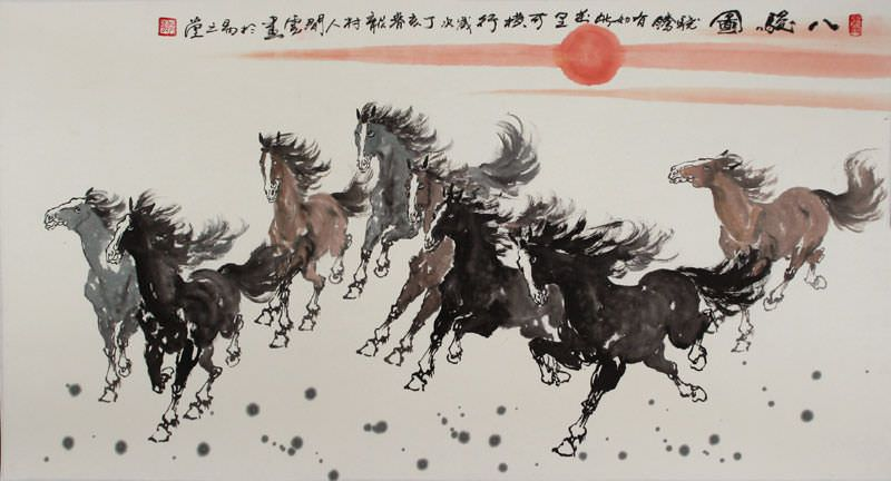 Eight Beauties - Chinese Painting