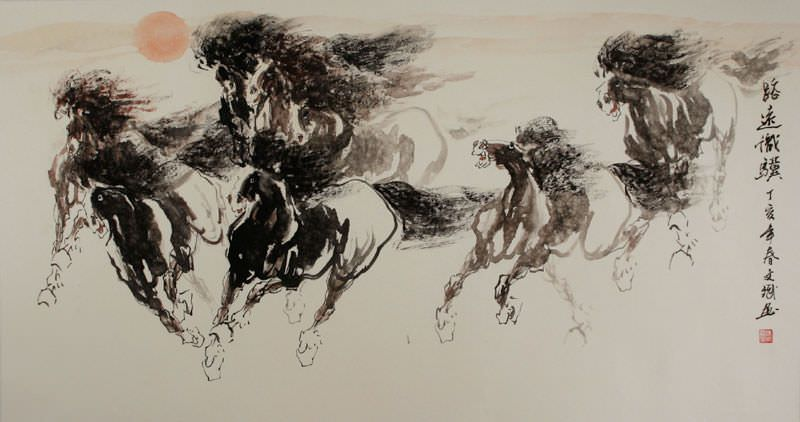 Galloping - Chinese Horse Painting