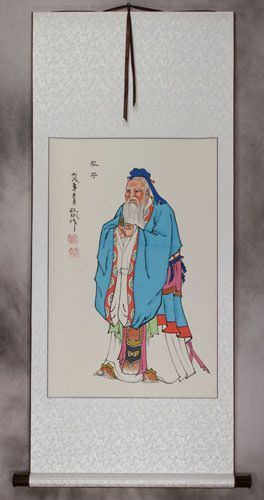 Confucius<br>The Great Leader<br>Wall Scroll