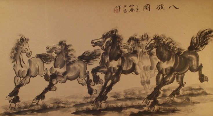 Eight Beauties - Large Chinese Painting