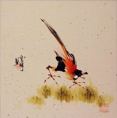 Bird on a Branch Painting