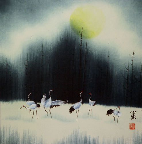 Sunrise / Daybreak<br>Asian Art Painting