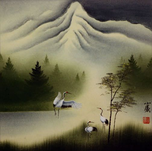 Cranes Dance at Pine Mountain - Chinese Art Painting