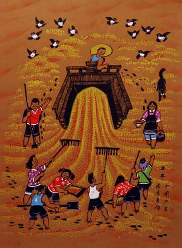 Abundant Year - Good Harvest - Chinese Folk Art Painting