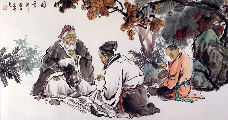 Chinese Chess - Antique Style Painting